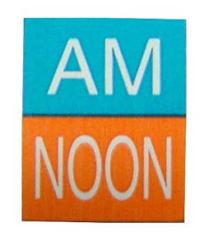 LidPak Coding Label - AM & Noon - roll of 500