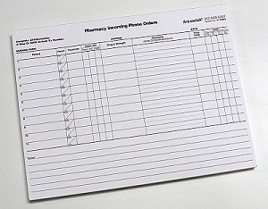 Pharmacy Phone Order - pad of 100