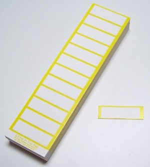E-Z Pak Tray Label - Yellow & White - package of 750