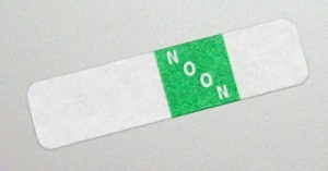 Select Series 7+ Time Bar Label - Noon - roll of 500