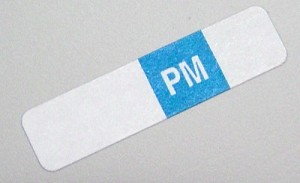Select Series 7+ Time Bar Label - PM - roll of 500