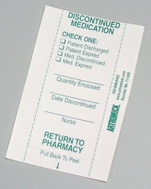 Discontinued Medication Seal - package of 500