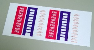 Color Coding Label - PRN - 1,500 labels